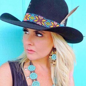 Charlie One Horse Black Gold Digger Hat M-L